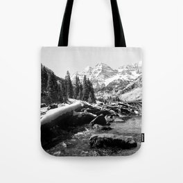 Maroon Bells Mountains Colorado Tote Bag