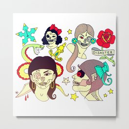 Sailor Jerry Zombies Metal Print