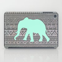 mint iPad Cases featuring Mint Elephant  by Sunkissed Laughter