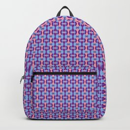Pink, Purple, and Blue Low Poly Pattern Backpack