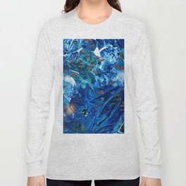 Rainbow Fish Swim, Environmental Tiny World Collection Long Sleeve T-shirt