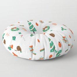 Christmas tree pattern material Floor Pillow