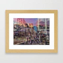 San Francisco city illusion Framed Art Print