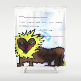 Your Feelings Shower Curtain