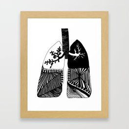 Particle Filtration - Lungs - Respiratory System Framed Art Print