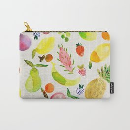 fruit market watercolor Carry-All Pouch