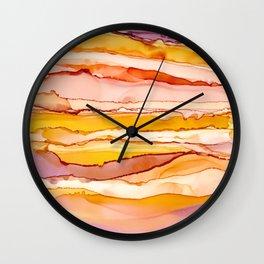 Happy Sunset Abstract Art Wall Clock