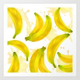 Watercolor Banana Art Print
