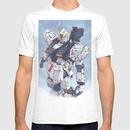 Nu Gundam watercolor T-shirt