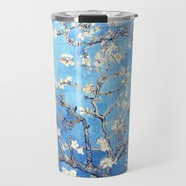 Vincent Van Gogh Almond Blossoms. Sky Blue Travel Mug