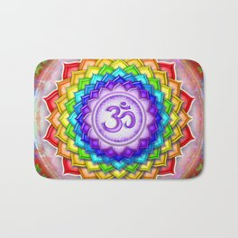 Sahasrara Chakra - Crown Chakra Rainbow Lotus - Series V Bath Mat