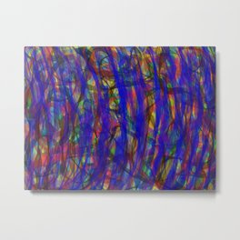 Blue Intensity Metal Print