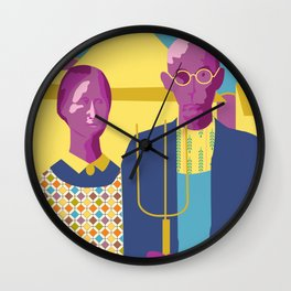 American Gothic P Wall Clock