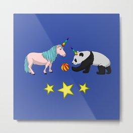 Pandicorn meets unicorn Metal Print