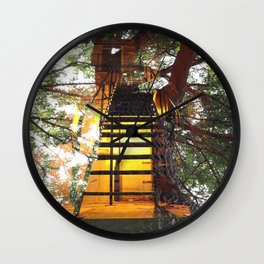 Take The Stairs Wall Clock