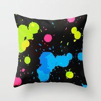 80s Throw Pillows featuring The 80s by MY  HOME