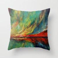 aurora Throw Pillows featuring Aurora by Michael Creese