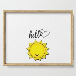 Hello Sunshine Positivity Art Serving Tray