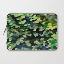 Foliage Abstract Pop Art In Green and Blue Laptop Sleeve