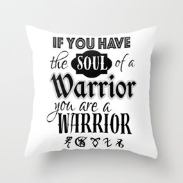Soul of a Warrior - Infernal Devices Throw Pillow
