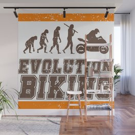 Evolution Biking   Motorcycle Street Speed Wall Mural