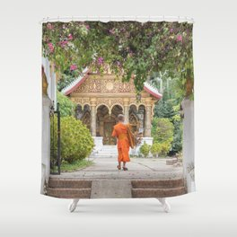 Luang Prabang Monk Shower Curtain