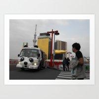 Panda Bus Art Print