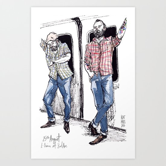 Urban Lumberjacks by Kat Mills Art Print