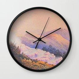 historic print on New Zealand Wall Clock
