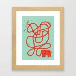 Eletrump Red Framed Art Print