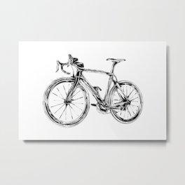 Wooden Bicycle Metal Print