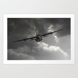 RAF C-130 Transport Art Print