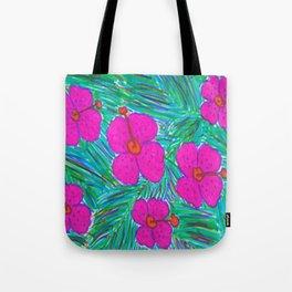 Hawaii Dreams Hibiscus Print Tote Bag