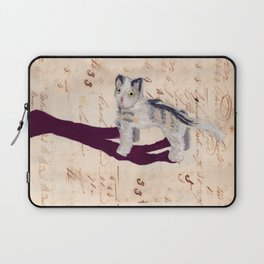 Vintage Fabric Stuffed Cat in Gouache Laptop Sleeve