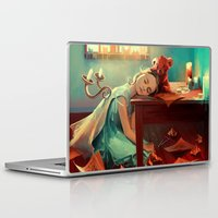 kindle Laptop & iPad Skins featuring When she was six by Cyril ROLANDO