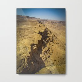 Dead Sea Mountains Metal Print