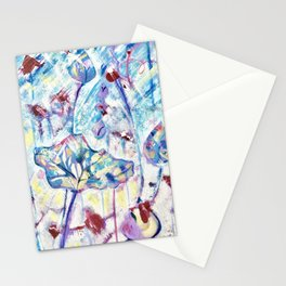 Lotus flowers Stationery Cards