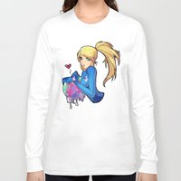 samus Long Sleeve T-shirts featuring Samus + Metroid by Helixel