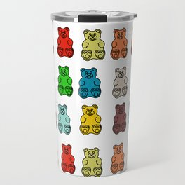 Cute Gummy Bear Candy Collage Travel Mug