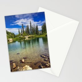 Mountain Lake in the Mt Rainier National Park Stationery Cards