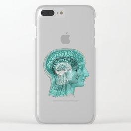 Meditating Brain Clear iPhone Case