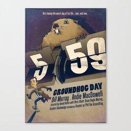 Groundhog Day Canvas Print