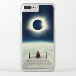 Blissful Solitude Clear iPhone Case