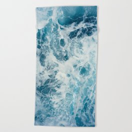 Rough Sea - Ocean Photography Beach Towel