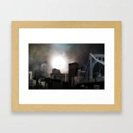 Pittsburgh Sun Framed Art Print