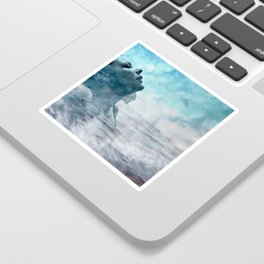 Swim under clouds Sticker