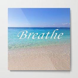 Breathe Cayman Relaxing Beach Waves Metal Print