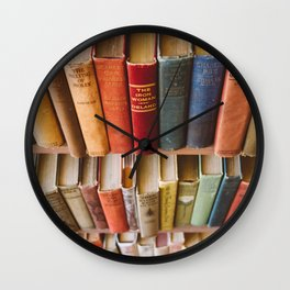The Colorful Library Wall Clock