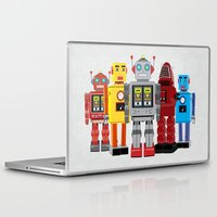 robots Laptop & iPad Skins featuring robots by notbook