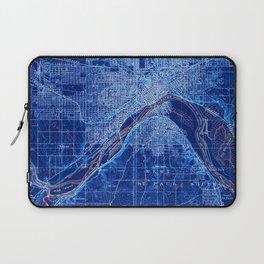 02-St Paul Minnesota 1896, old vintage map, vintage art print Laptop Sleeve
